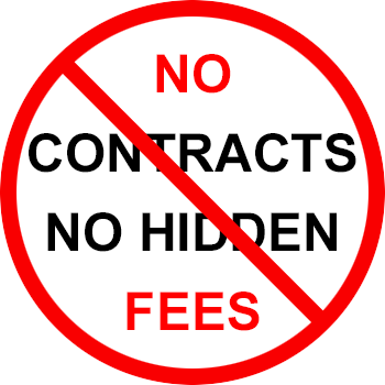 No Contracts Or Hidden Fees